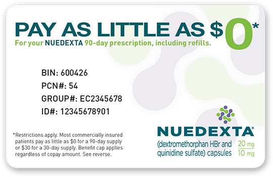 NUEDEXTA Co-Pay Savings Card